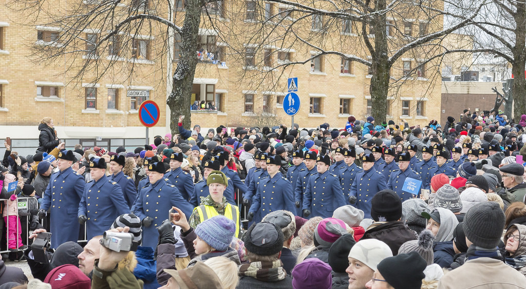 Itsenäisyyspäivän paraati Kuopiossa 2017