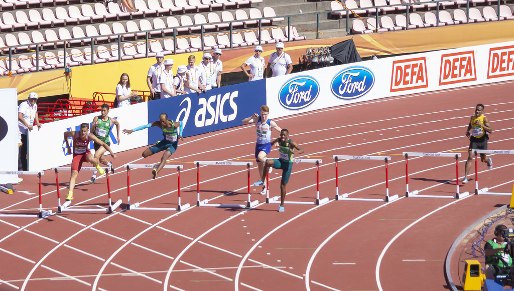 Miehet 400 m aidat; finaali